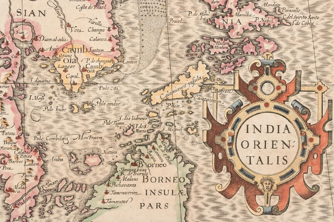 Hondius map of India and southeast Asia - 3