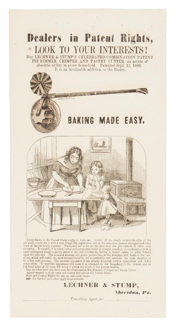 Civil War-era Broadside for patented Pastry tool