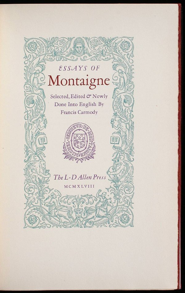3002: Essays of Montaigne