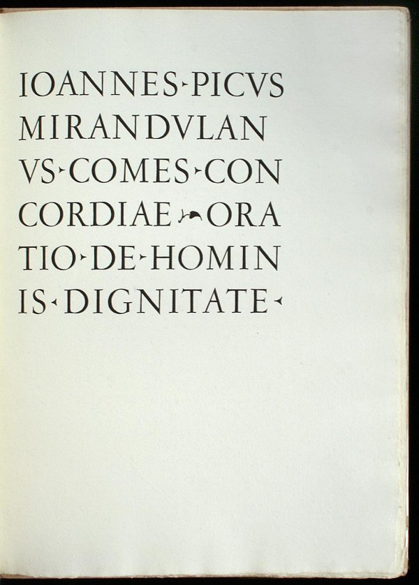 3011: Comes Concordiae Oration de Hominis Dignitate