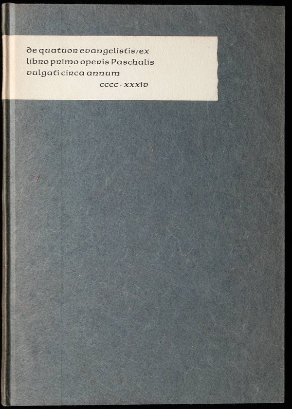 3013: De Quatuor Evangelistis