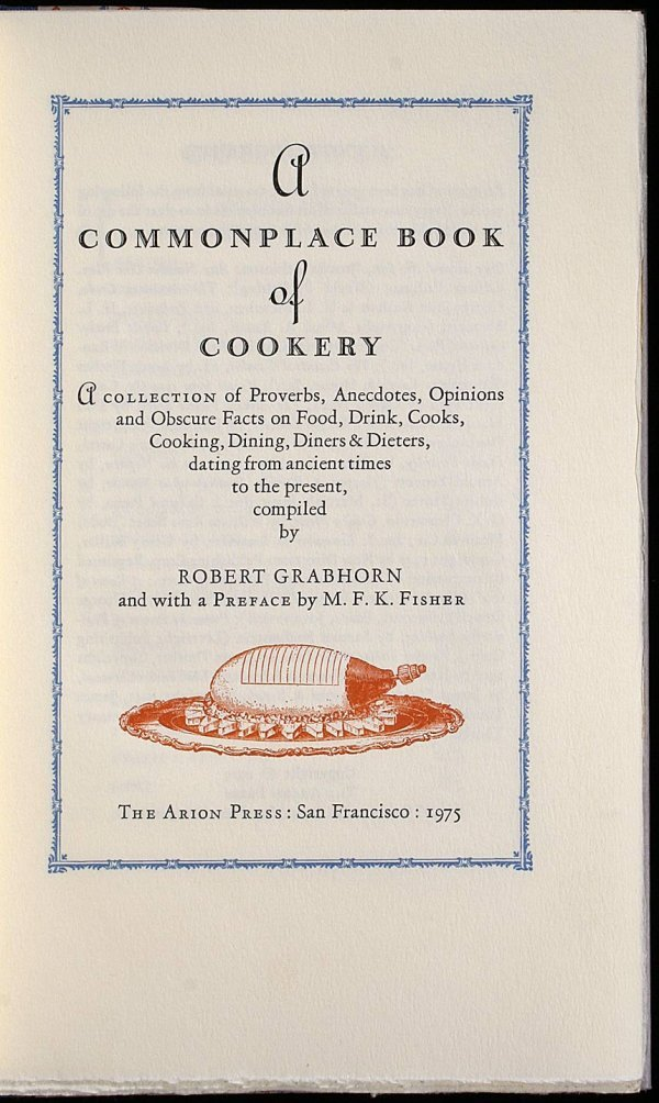 3019: A Commonplace Book of Cookery