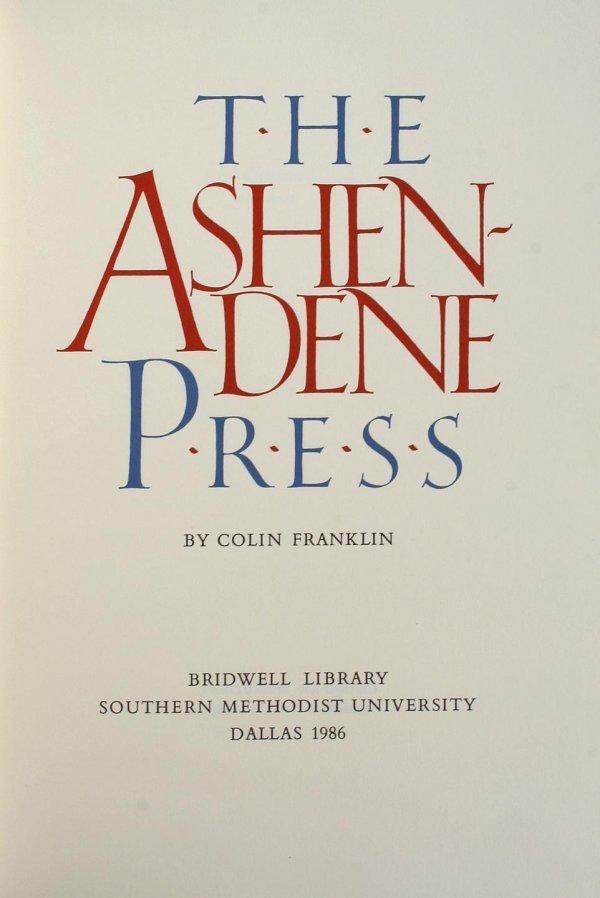 3023: The Ashendene Press