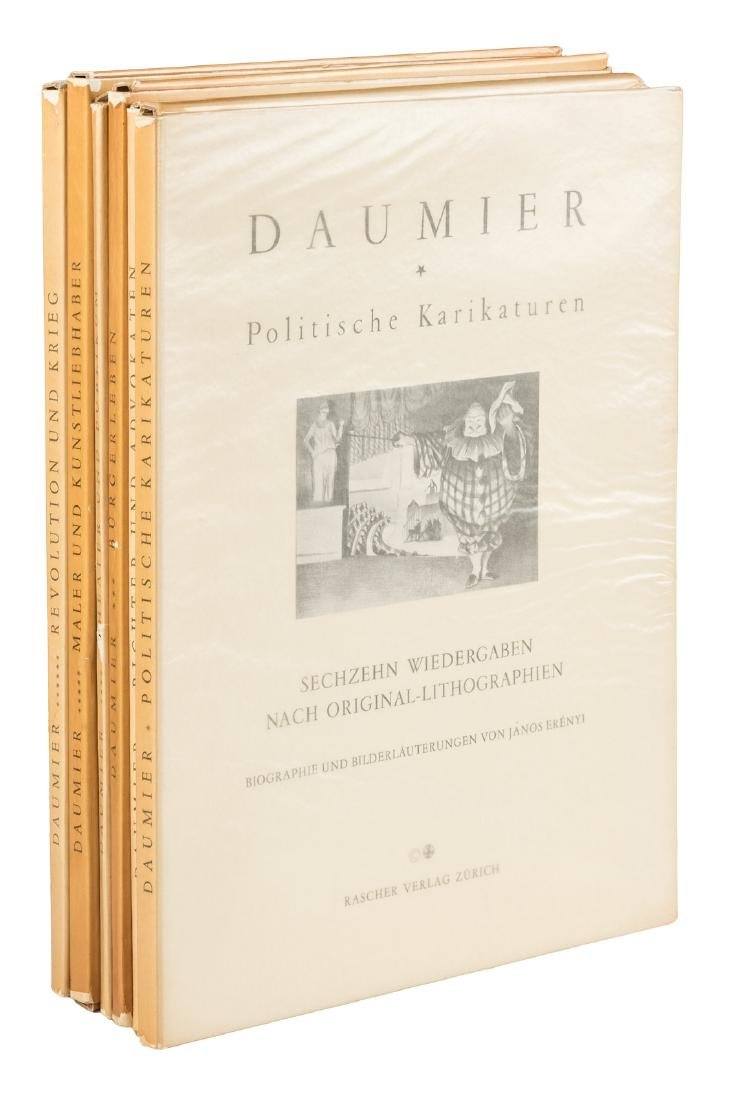 96 reproductions of Daumier lithographs