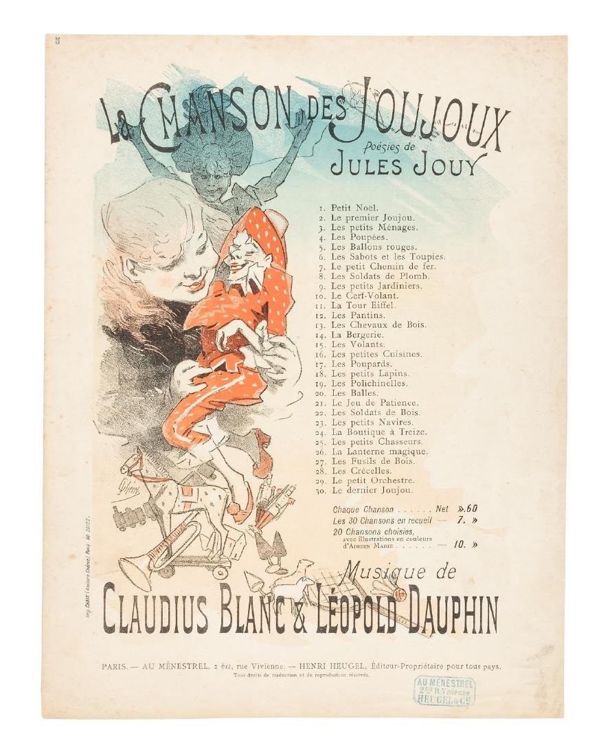 Famed French poster artist Jules Cheret, color sheet