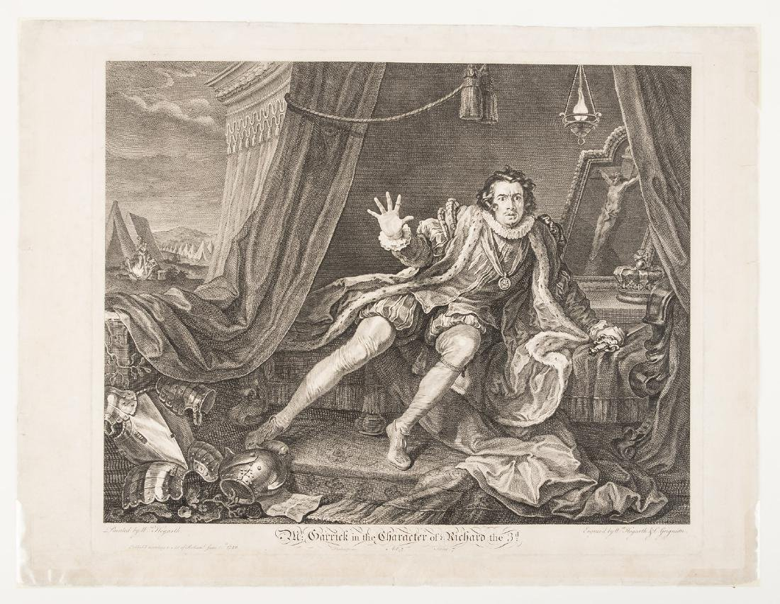 William Hogarth engraving of Mr. Garrick as Richard the