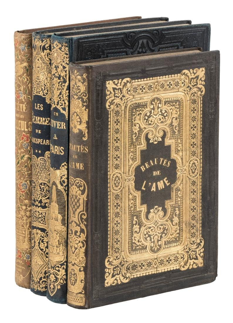 Four illustrated volumes in French