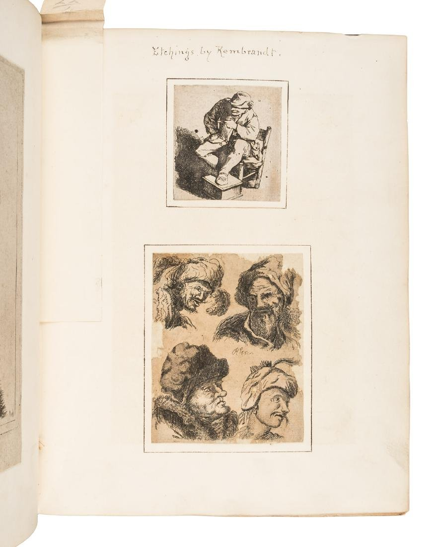 Two scrapbooks of illustrated plates, 1880 - 3
