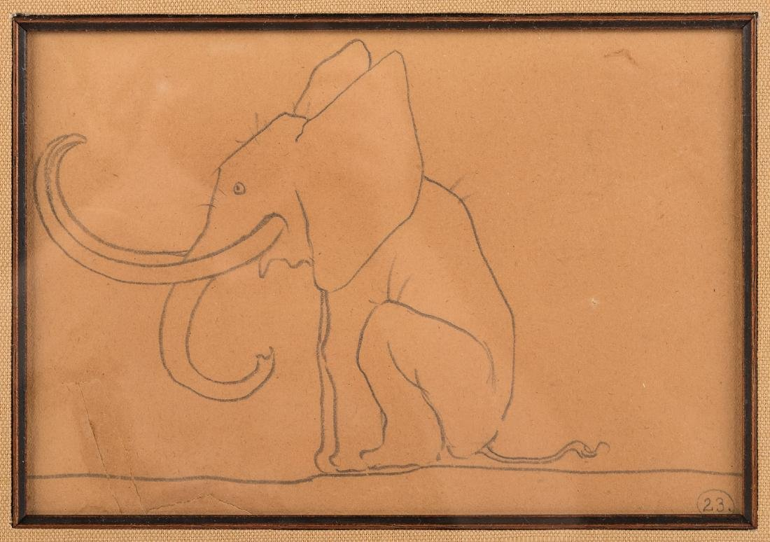 Original pencil sketch by Maxfield Parrish - 2