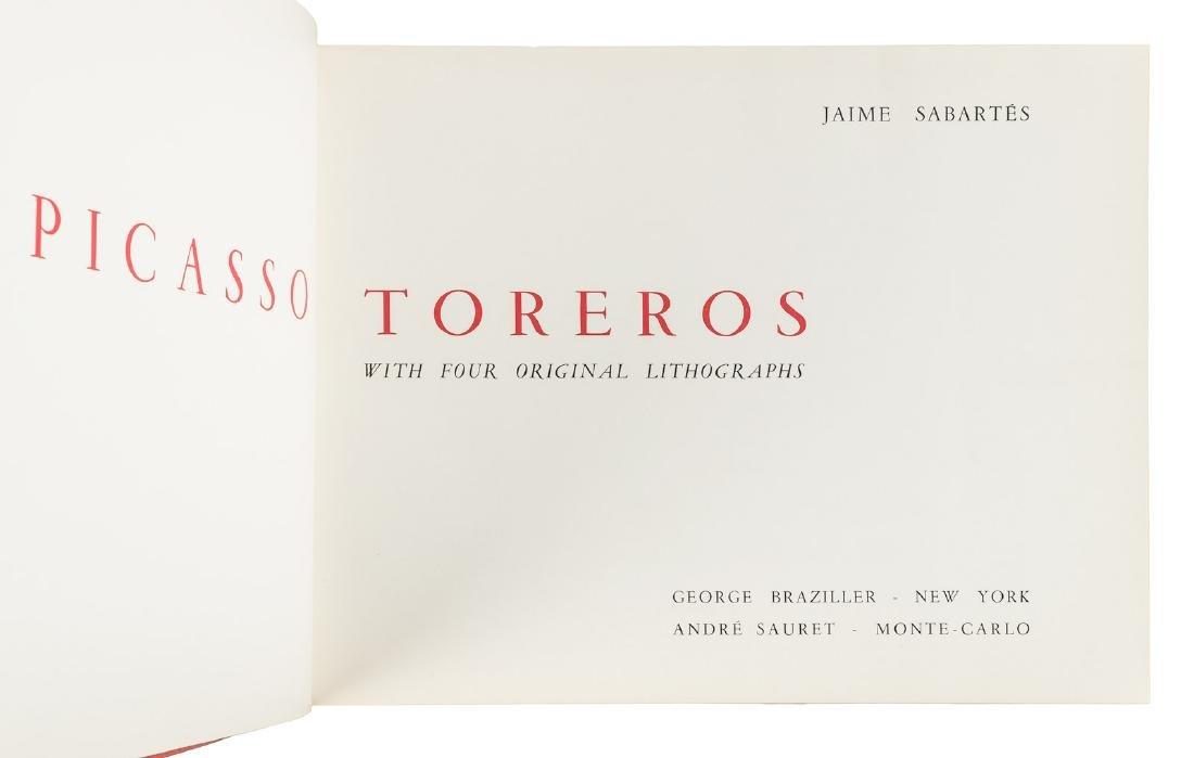 Picasso Toreros 4 original lithographs 1st Edn 1961 - 4