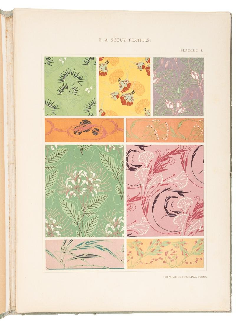 Art Nouveau textile designs by E.A. Seguy