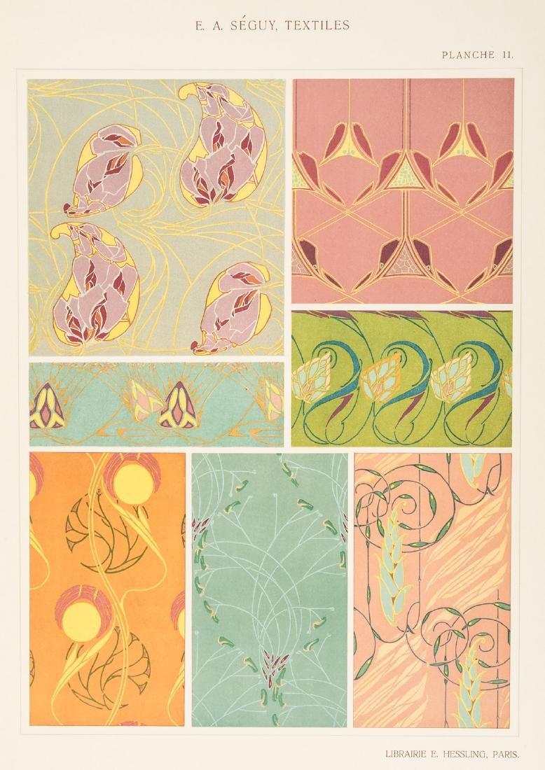 Art Nouveau textile designs by E.A. Seguy - 8