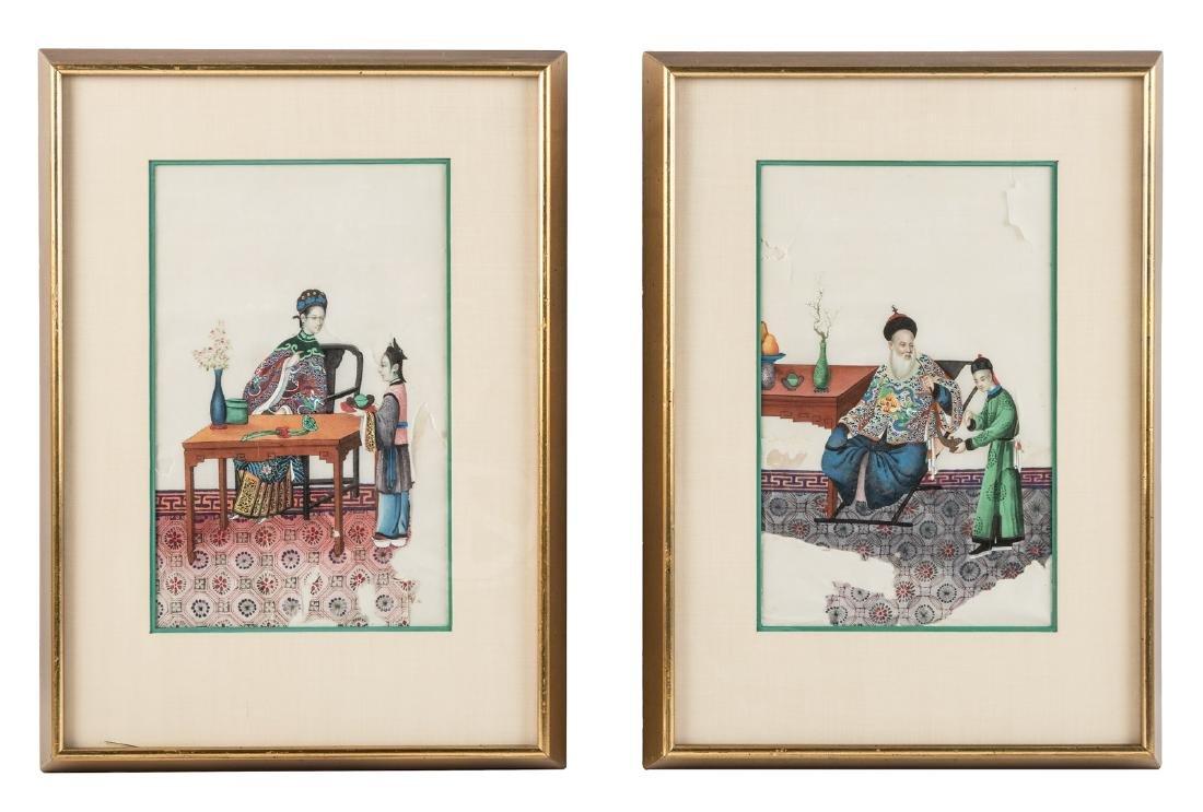 Two original Chinese watercolors