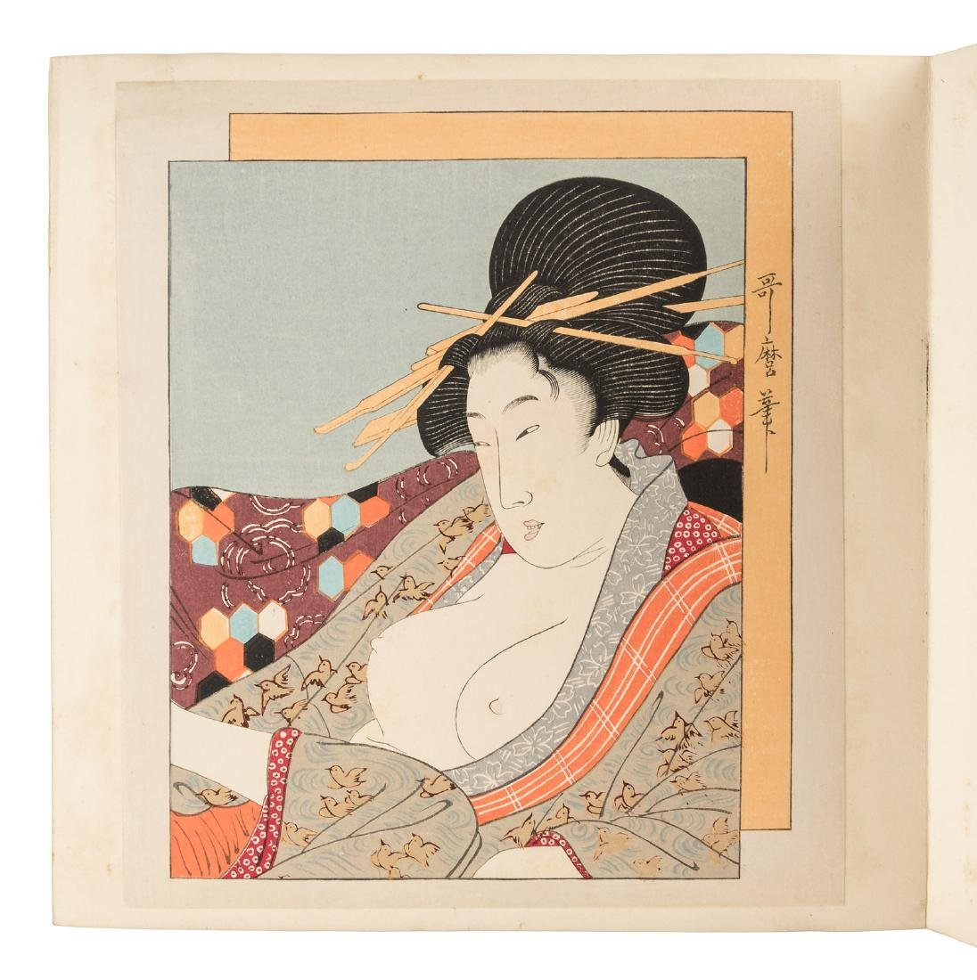 Woodblock prints of Geishas & Courtesans