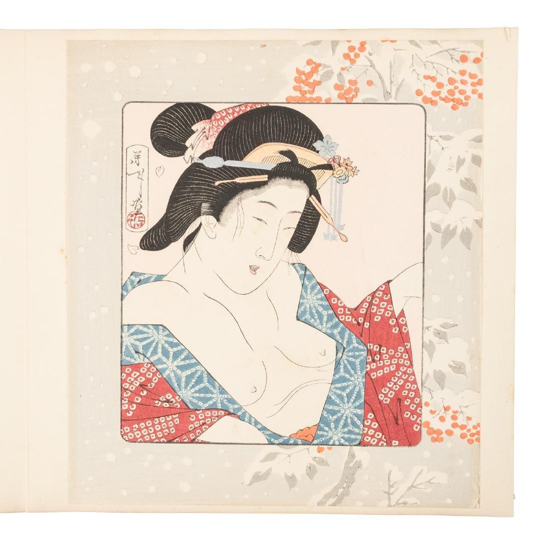 Woodblock prints of Geishas & Courtesans - 4