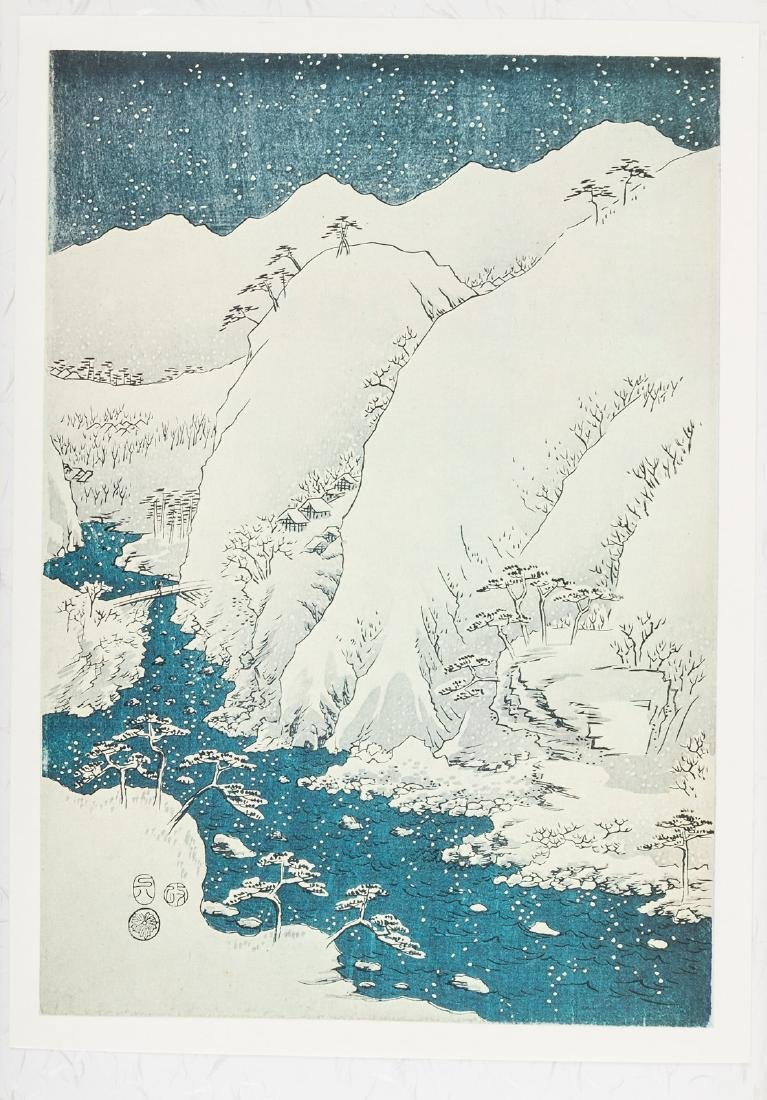 Plates after woodblocks by Hiroshige - 3
