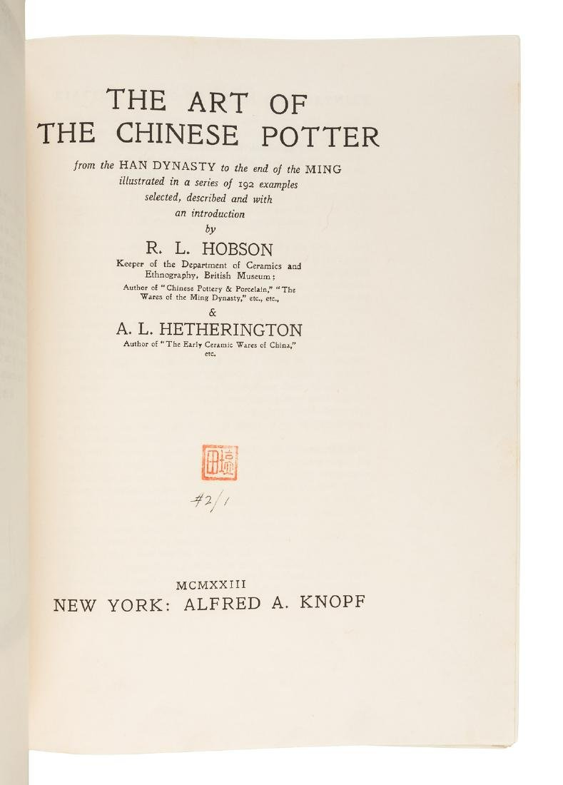 Fine Copy of Hobson on Chinese Pottery - 2
