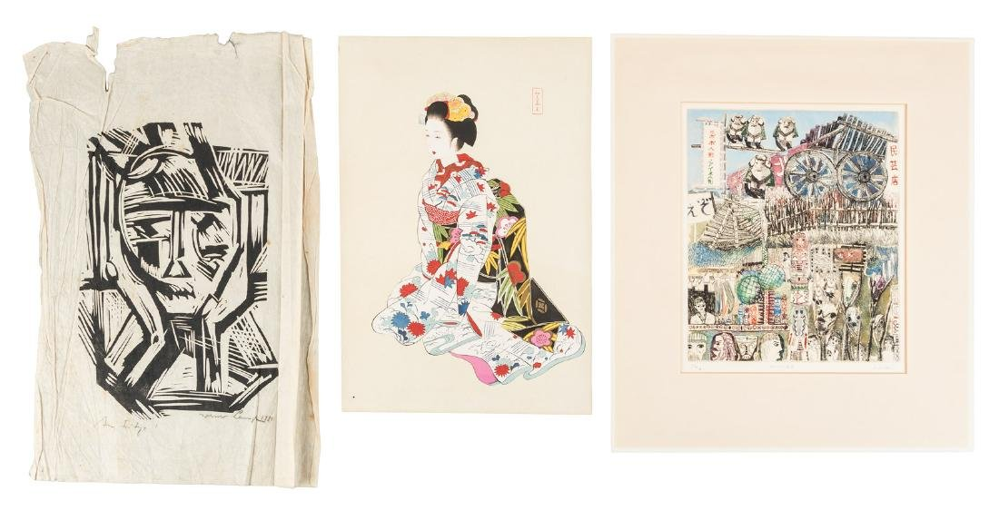 Five Japanese art prints
