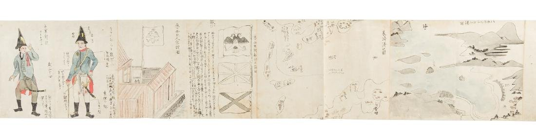 Japanese scrolls of Russians & their culture c.880 - 4
