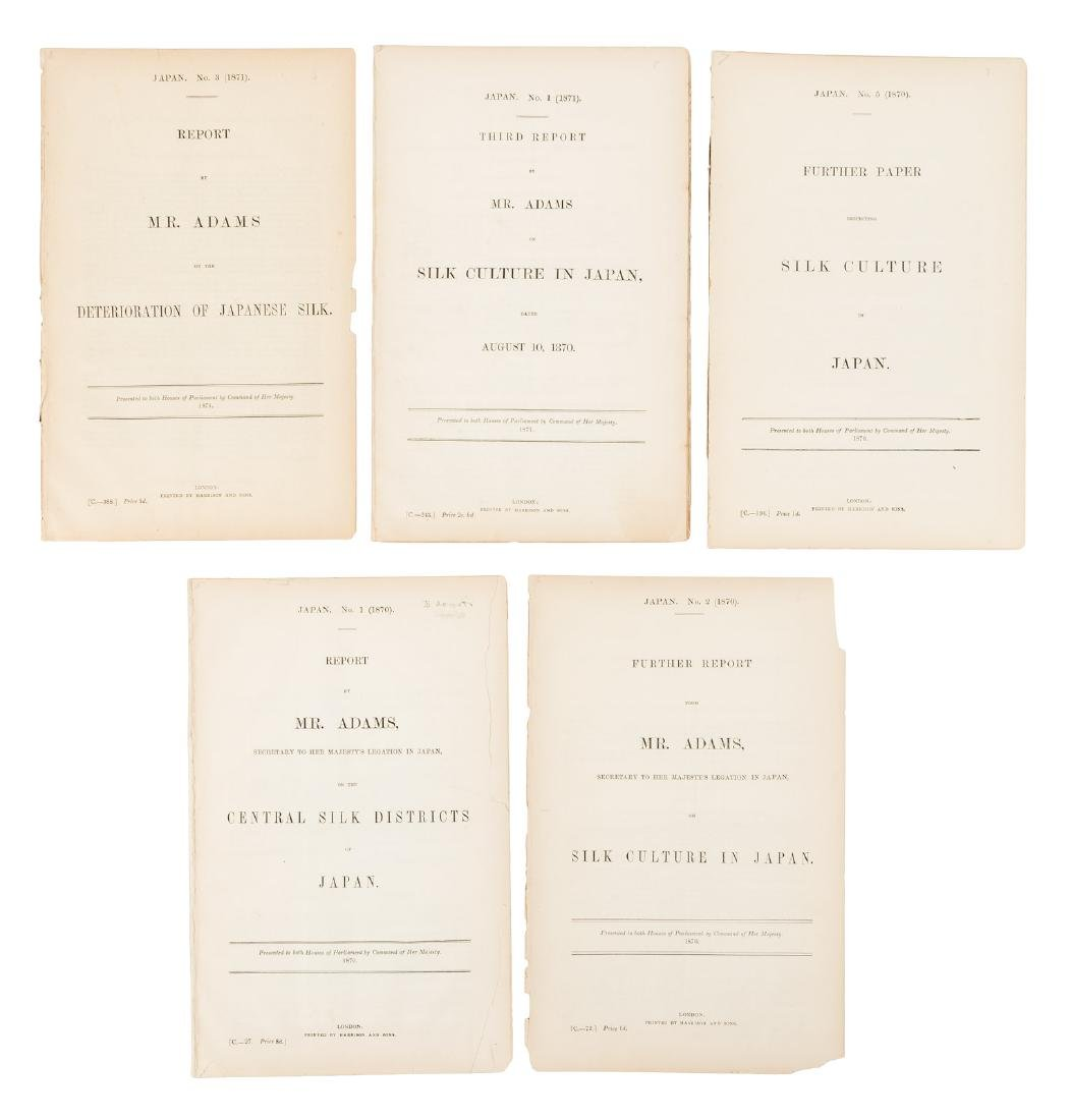 Five Parliamentary documents concerning Japanese silk