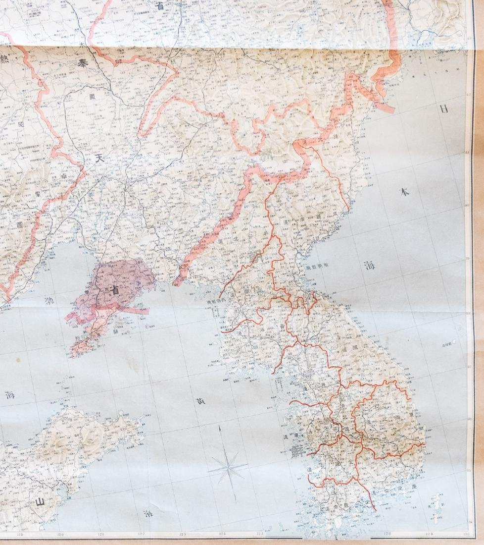 Rolling map of Northeast China circa 1920 - 4