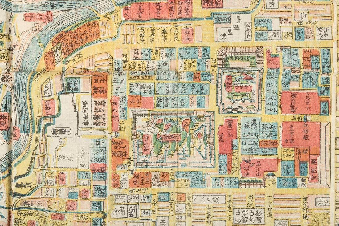 Woodblock map of Imperial City, Kyoto, Japan 1864 - 3