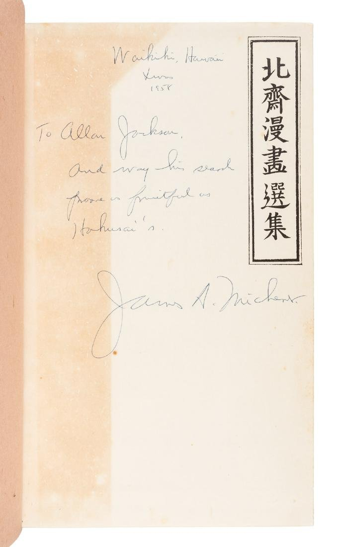 Michener, The Hokusai Sketch-Books - inscribed - 2