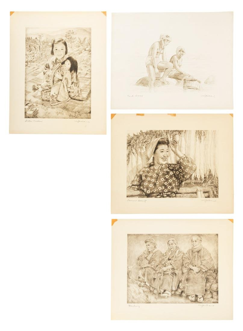 Four etchings by Willy Seiler
