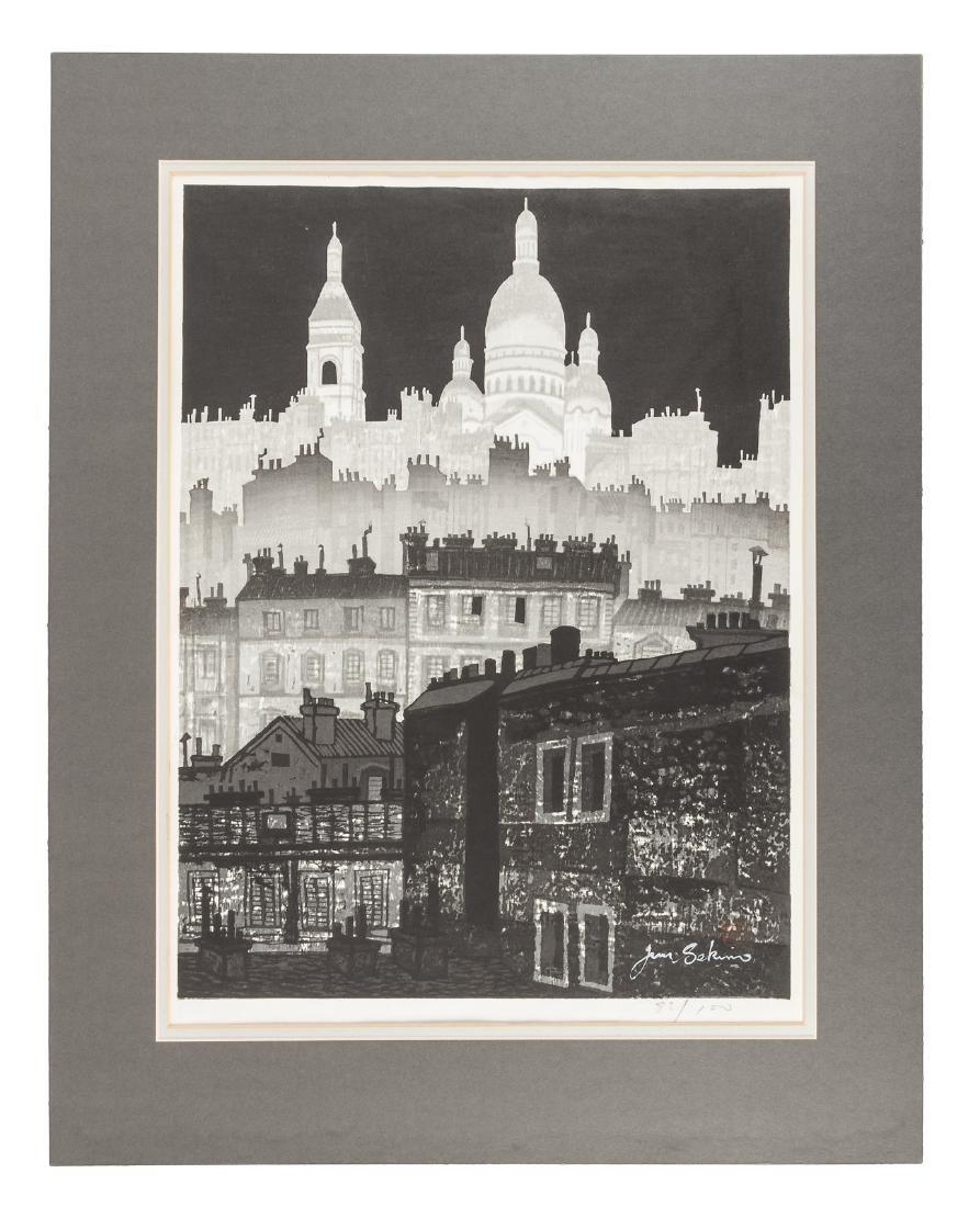 Junichiro Sekino woodblock print 1/100