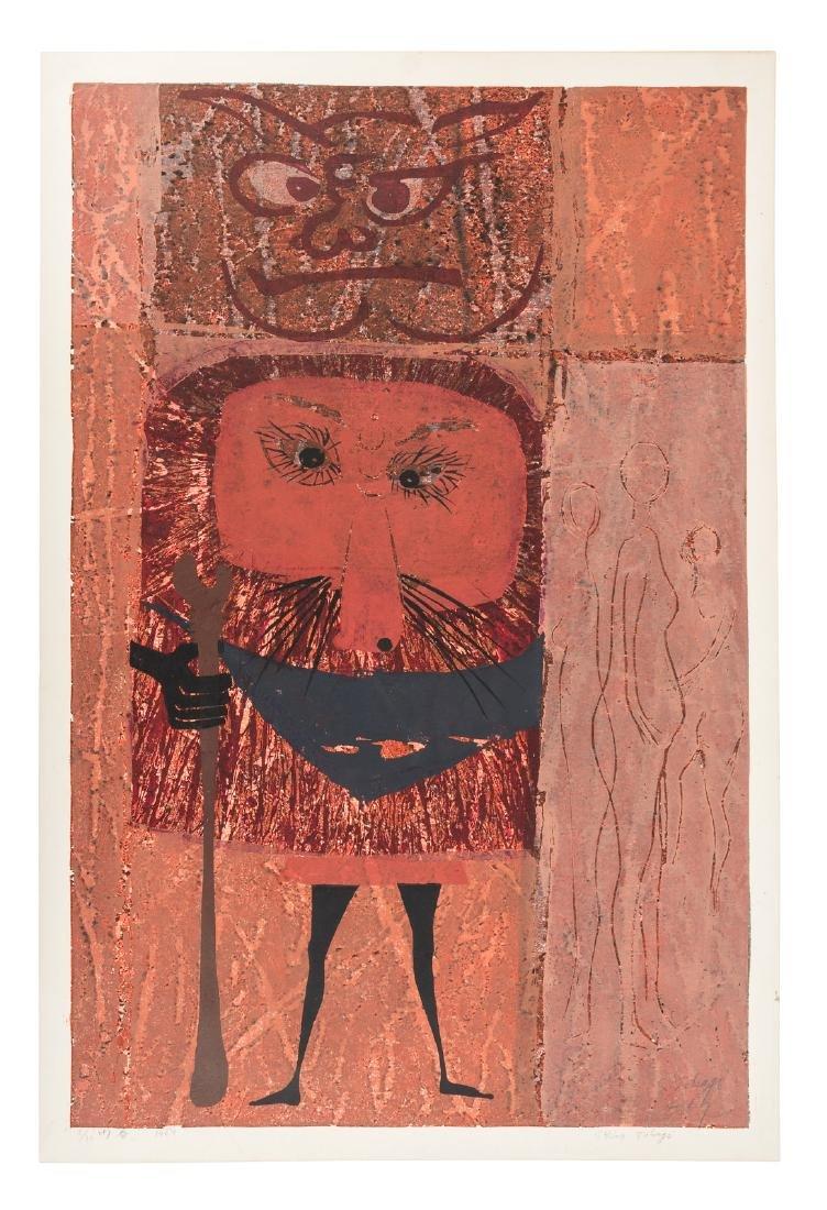 Shirô Takagi color woodblock print