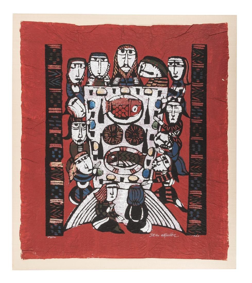 Sadao Watanabe color woodblock print 1/50