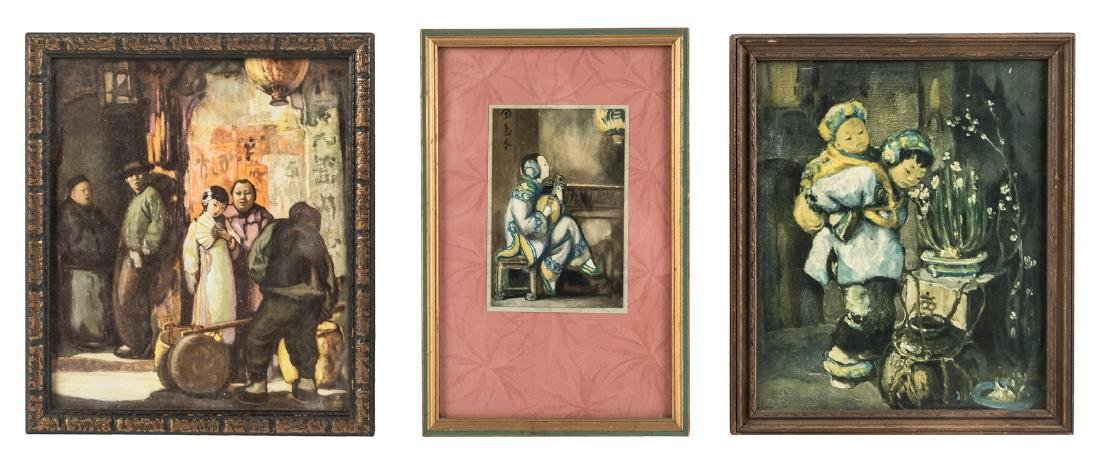 7 framed Chinatown color prints by San Francisco artist - 2