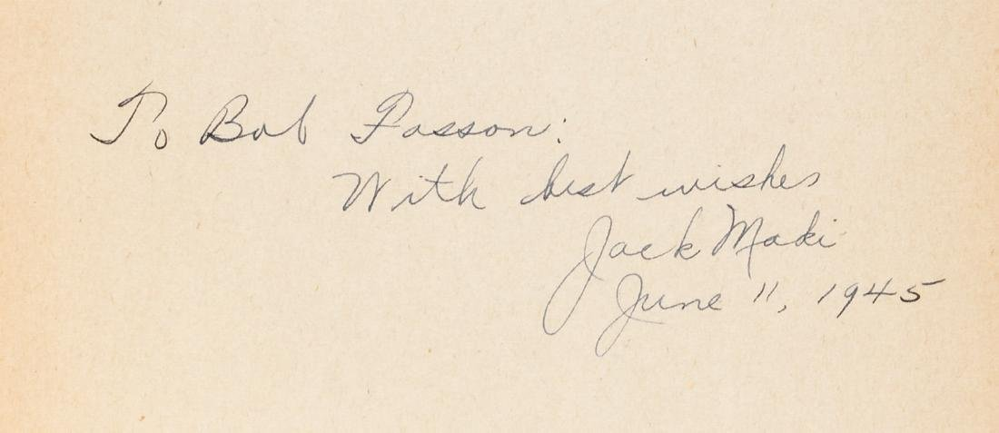 2 inscribed books by Japanese-Americans published - 2