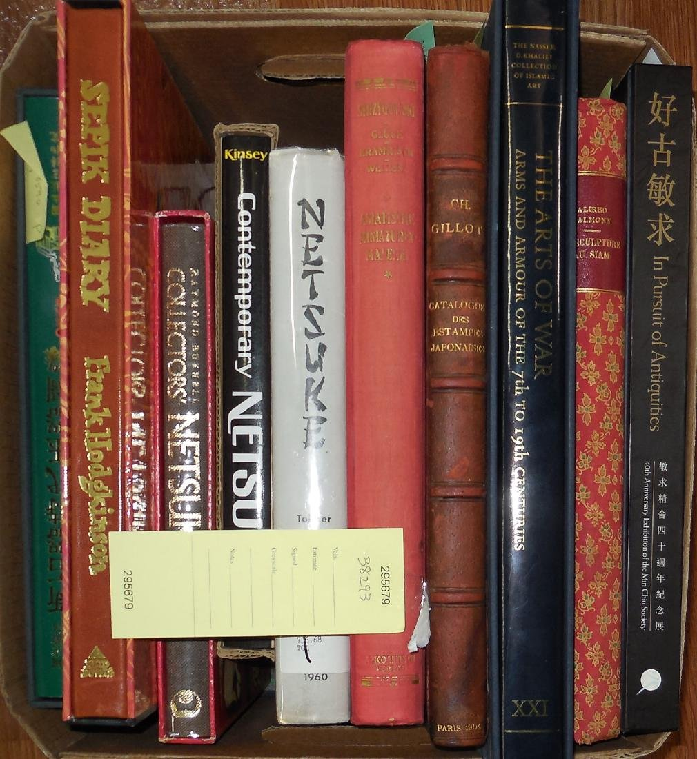 Shelf lot of Asian art books