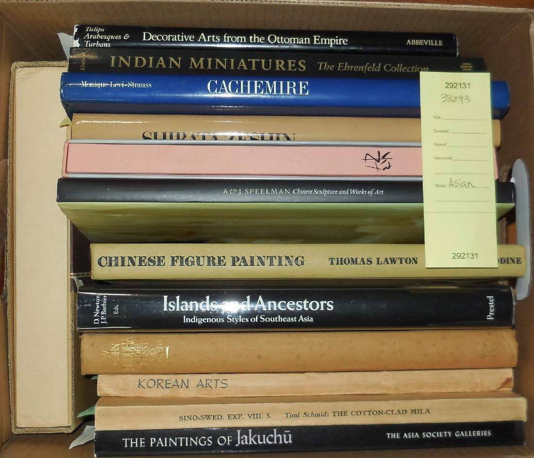 Shelf lot of Asian art books