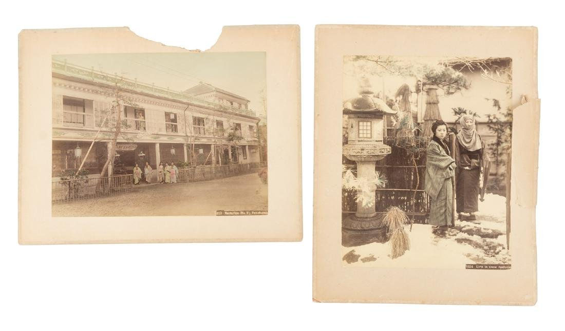 Two early Japanese photos, women in costume