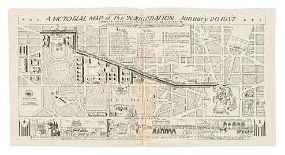 Pictorial map of Roosevelt inauguration 1937