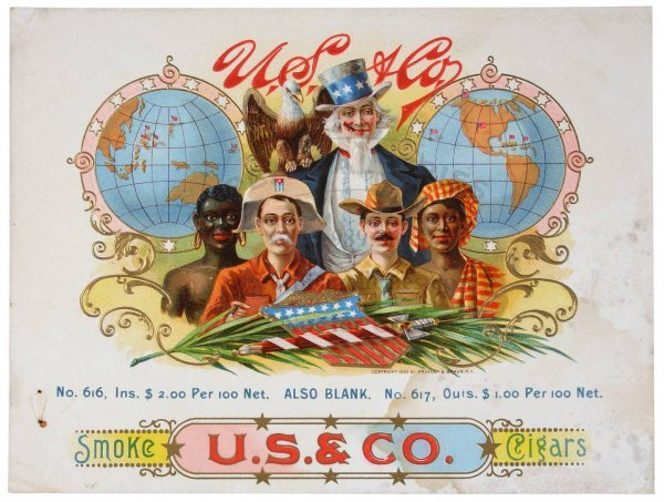 14: KRUEGER & BRAUN LABEL U.S. & Co. Blacks Uncle Sam