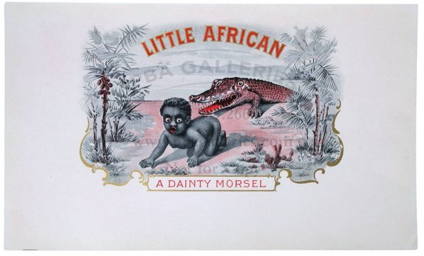 15: LITTLE AFRICAN CIGAR LABEL Black Baby, Alligator