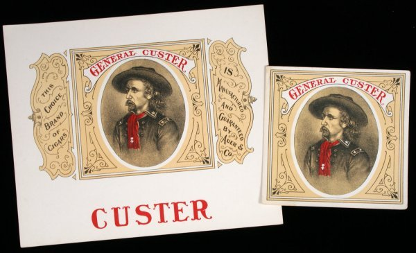 20: GENERAL CUSTER CIGAR LABEL SET Civil War