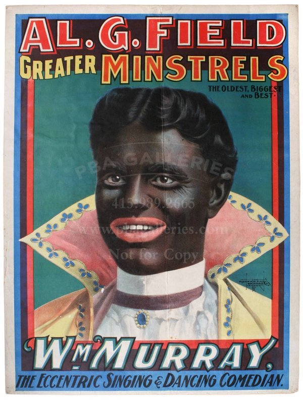 130: MINSTREL ADVERTISING POSTER Al Field Billy Murray