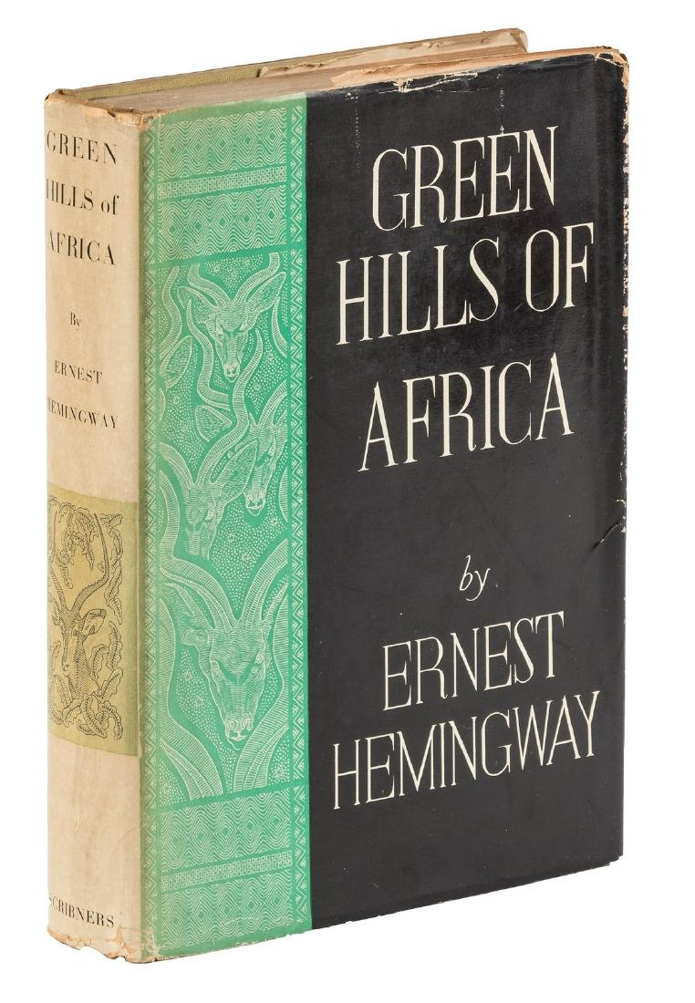 Hemingway: Green Hills of Africa. 1st state jacket
