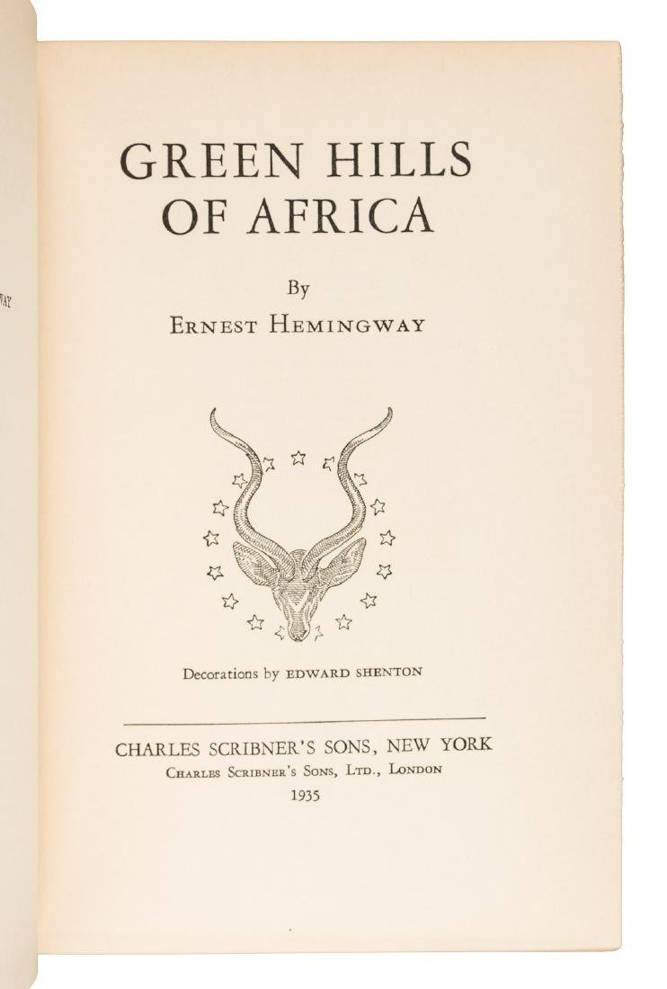 Hemingway: Green Hills of Africa. 1st state jacket - 3