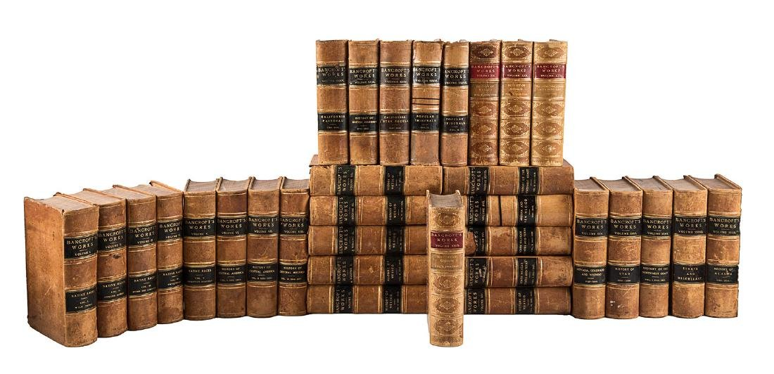 31 of 39 volumes of Bancrofts Works