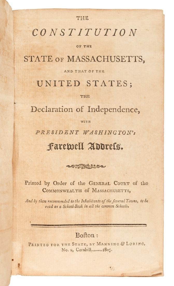 Constitution of U.S., & Massachusetts, 1805