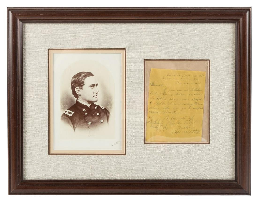 Letter from Marcus Reno to George A. Custer, 1864