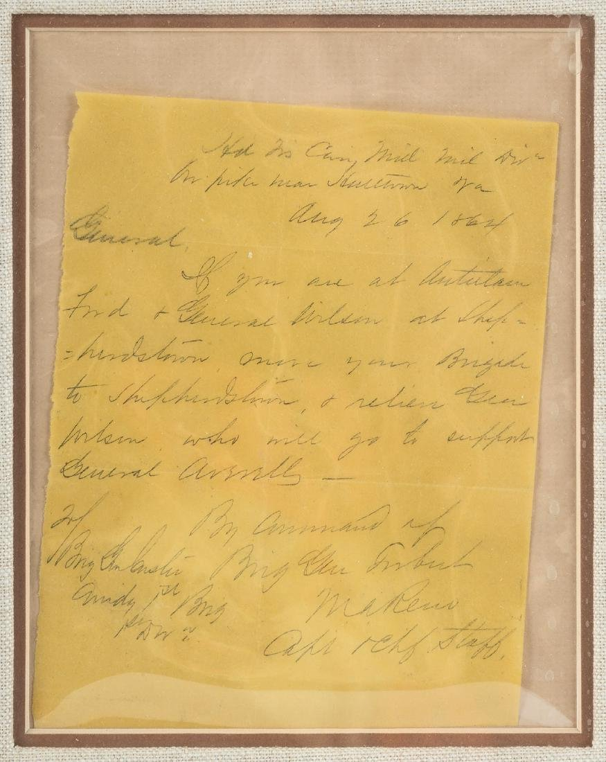 Letter from Marcus Reno to George A. Custer, 1864 - 3