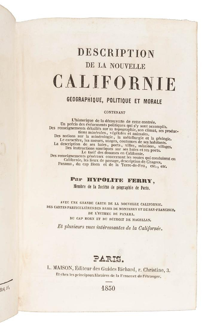 Ferry's Nouvelle Californie 1850 with maps - 3