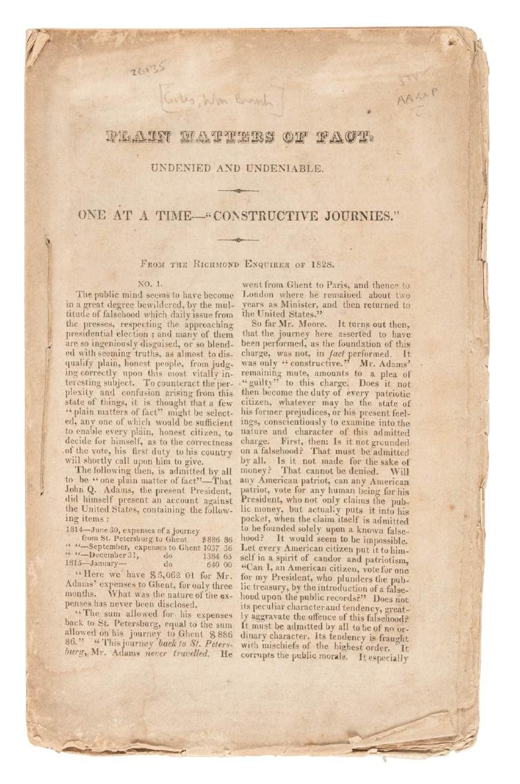 Articles concerning the Presidential election of 1828