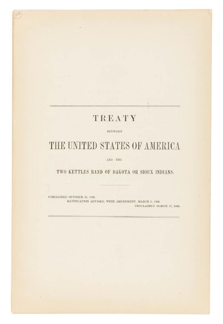 Treaty between the US and the Two Kettles Band